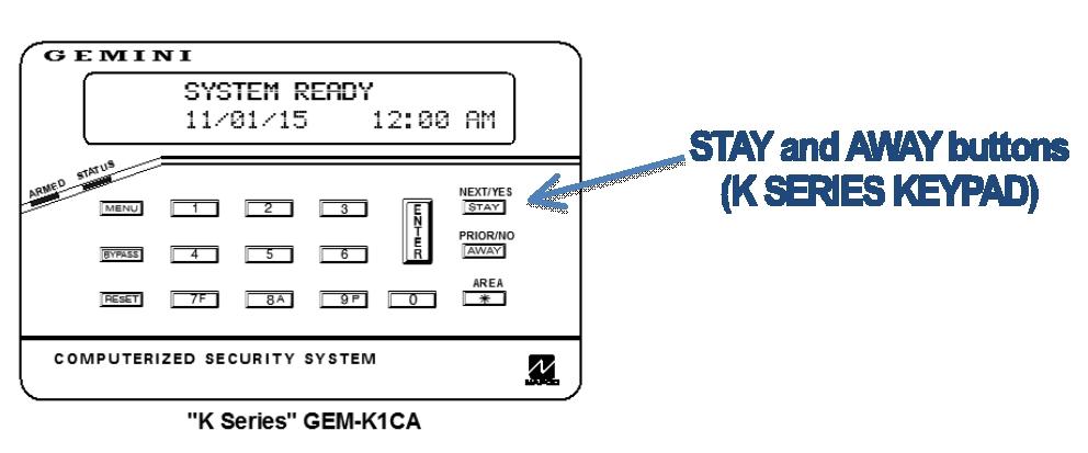 Napco GEM-K1CA keypad